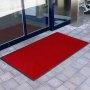 rote Fußmatte